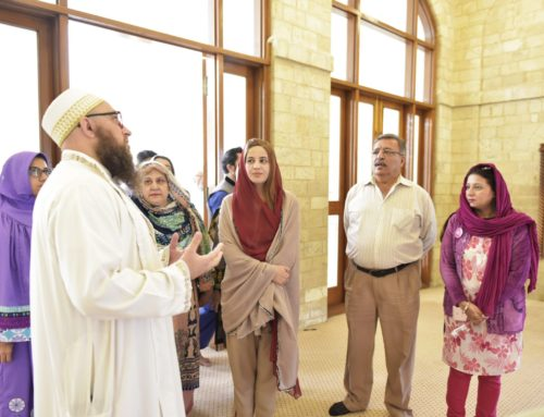 Minister of State for Climate Change Mrs Zartaj Gul Visits Aljamea Karachi