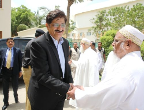 CM of Sindh Province Visits Aljamea Karachi